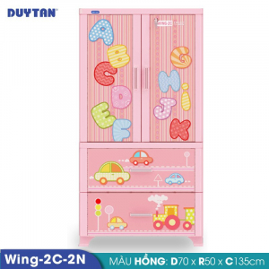 Tủ nhựa Duy Tân Wing 2C 2N - 2 cửa 2 ngăn - Nhiều màu - 727