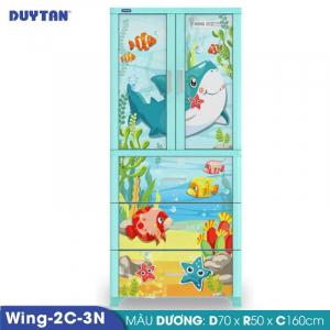 Tủ nhựa Duy Tân Wing 2C 3N - 2 cửa 3 ngăn - Nhiều màu - 1158
