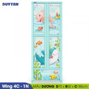 Tủ nhựa Duy Tân Wing 4C 1N - 4 cửa 1 ngăn - Nhiều màu - 1159