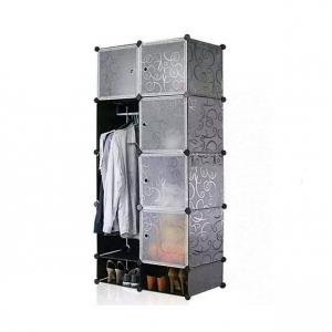 Tủ quần áo đa năng 10 ngăn Tupper Cabinet TC-10B-W1 (Đen phối trắng)