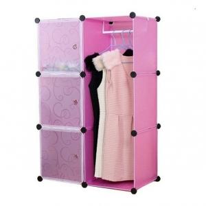 Tủ quần áo đa năng 6 ngăn Tupper Cabinet TC-6C3D-P (Hồng phối trắng)