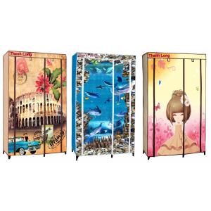 Tủ vải cao cấp họa tiết 3D Thanh Long TVAI01