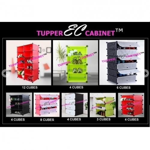 Tủ giày nhựa  đa năng 14 ngăn Tupper Cabinet TC-14W (trắng)   -3