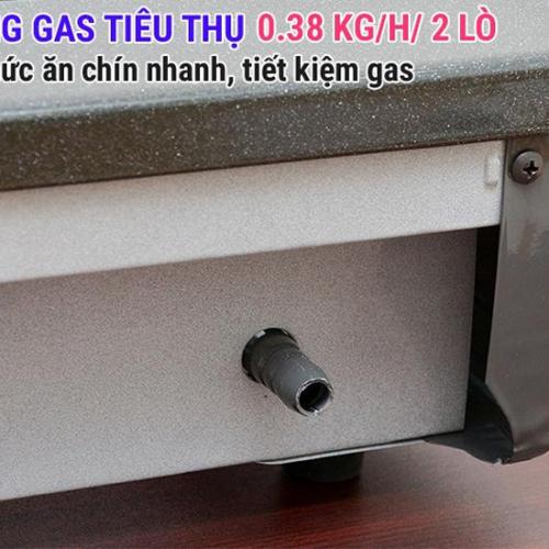 Bếp gas 6 tấc Rinnai RV-365G(N), Chén đồng có đầu hâm-6