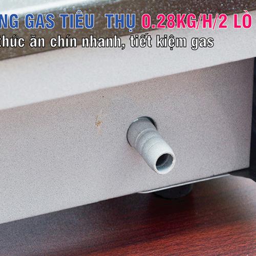Bếp gas 7 tấc Rinnai RV-270GN, Chén gang đúc-3
