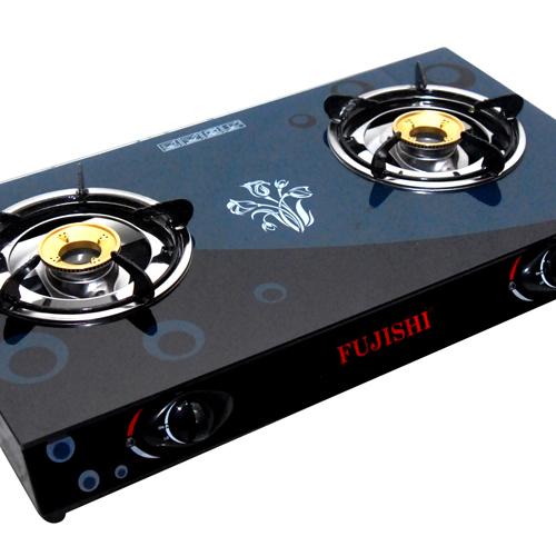 Bếp gas chén đồng kính cường lực FUJISHI FM-H10-D-2