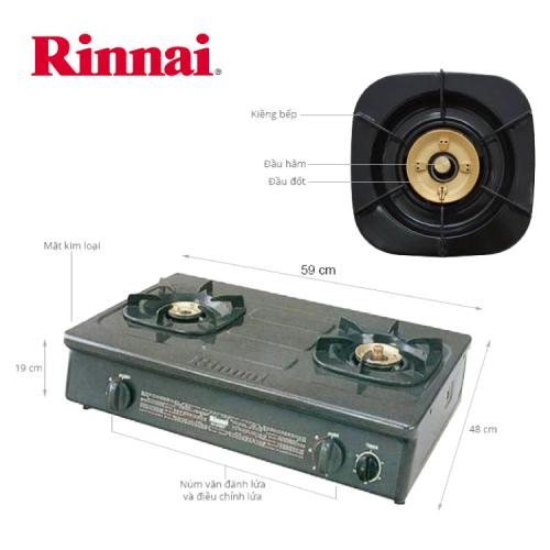 Bếp gas Rinnai 6 tấc RV-960(GT), Chén đồng có đầu hâm-2