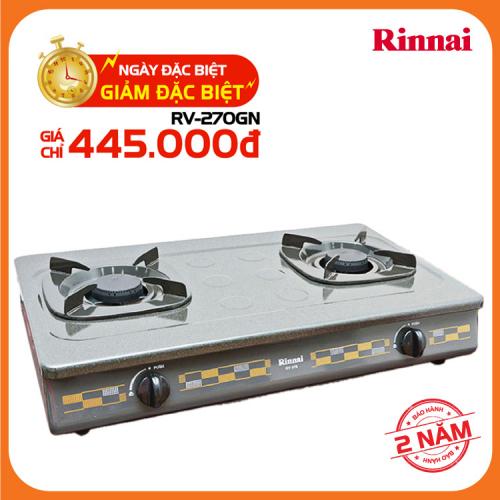 Bếp gas 7 tấc Rinnai RV-270GN, Chén gang đúc