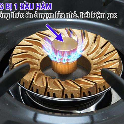 Bếp gas Rinnai RV-377G(N), Chén đồng có đầu hâm-1