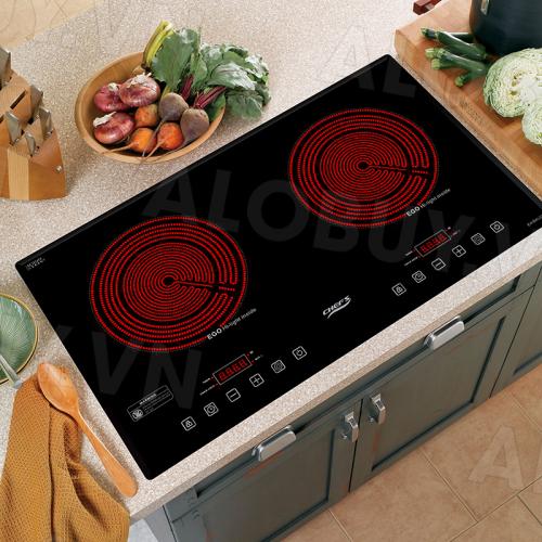 Bếp hồng ngoại đôi cảm ứng CHEFS EH-DHL321-3