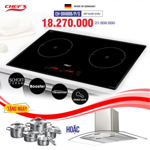 Bếp từ đôi cảm ứng CHEFS EH-DIH888/P/S