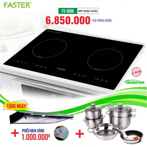 Bếp từ đôi cảm ứng FASTER FS-668I