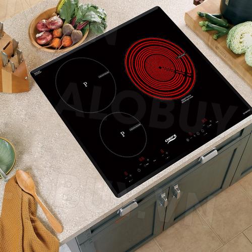 Bếp từ đôi hồng ngoại 3 lò cảm ứng CHEFS EH-MIX545-1