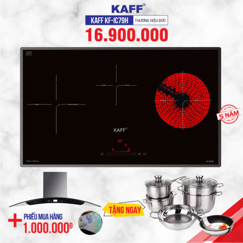 Bếp từ đôi hồng ngoại 3 lò cảm ứng KAFF KF-IC79H
