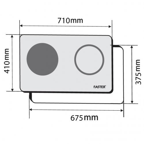 Bếp từ đôi hồng ngoại cảm ứng FASTER FS-288HI-1
