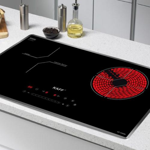 Bếp từ đôi hồng ngoại cảm ứng KAFF HYBRID KF-IH68N-2