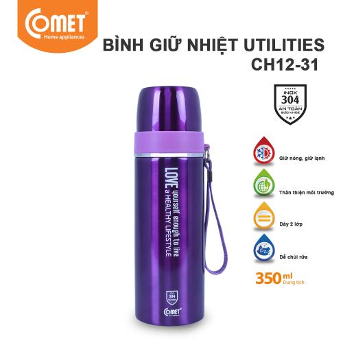 Bình giữ nhiệt Utilities 350ml Comet CH12-31 - Tím