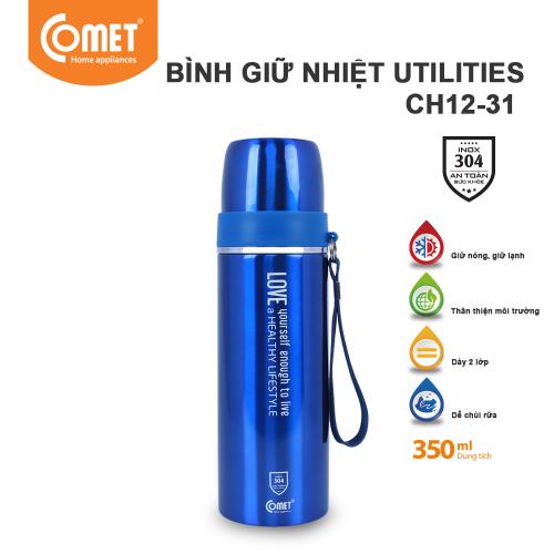 Bình giữ nhiệt Utilities 350ml Comet CH12-31 - Xanh-4