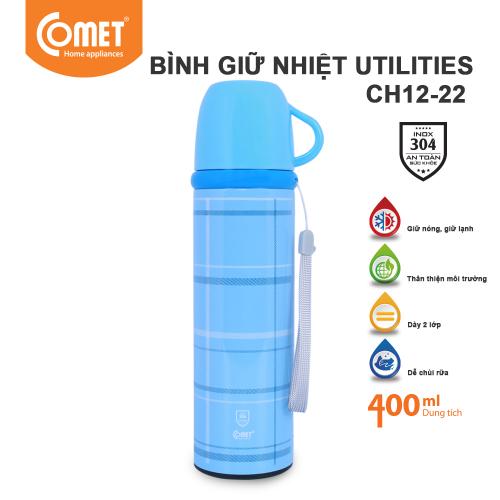 Bình giữ nhiệt Utilities 400ml Comet CH12-22 - Xanh-2