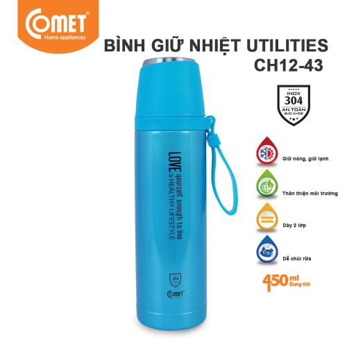 Bình giữ nhiệt Utilities 450ml Comet CH12-43 - Xanh Dương-1