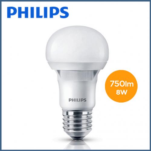 Bộ 2 Bóng đèn Philips LED Ecobright 8W 3000K E27 A60 - Ánh sáng vàng-5