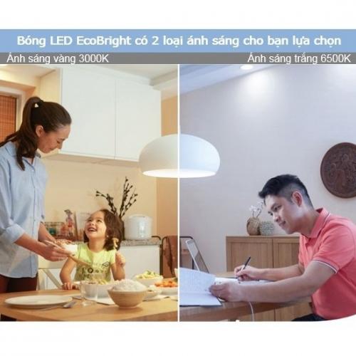 Bộ 3 Bóng đèn Philips LED Ecobright 5W 3000K E27 A60 - Ánh sáng vàng-5