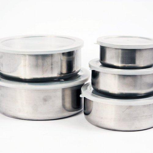 Bộ thố 5 cái Inox có nắp đậy IN.13-007-4