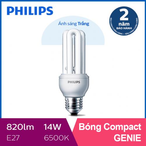 Bóng đèn Compact 3U tiết kiệm điện Philips Genie 14W 6500K E27 - Ánh sáng trắng