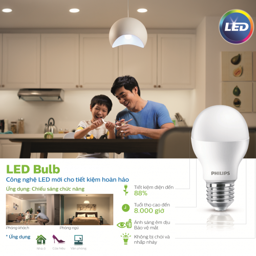 Bóng đèn Philips LED Essential Gen3 3W 3000K E27 A60 - Ánh sáng vàng-3