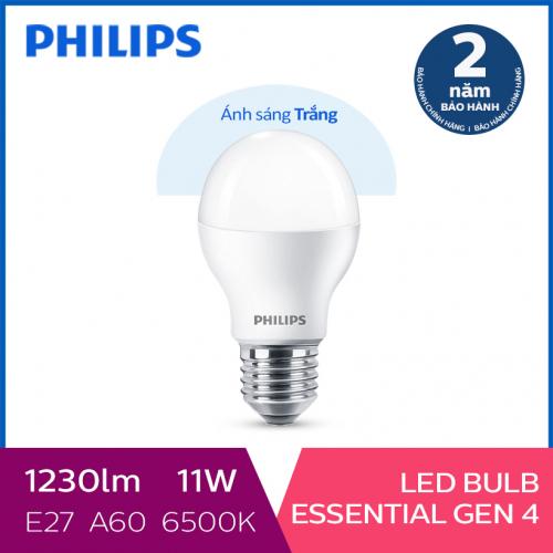 Bóng đèn Philips LED siêu sáng tiết kiệm điện Essential Gen4 11W E27 A60 - Ánh sáng trắng-6