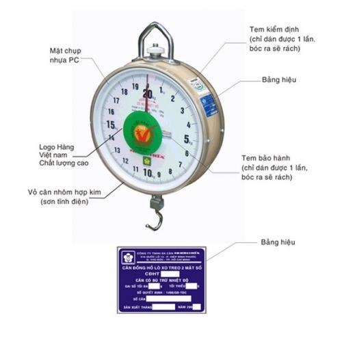 Cân Treo Nhơn Hòa 15kg - 1 mặt số NHGS-15-1F-2