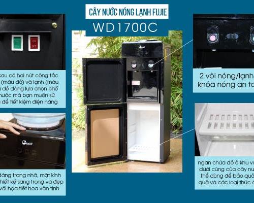 Cây nước nóng lạnh 2 vòi FUJIE WD1700C-3
