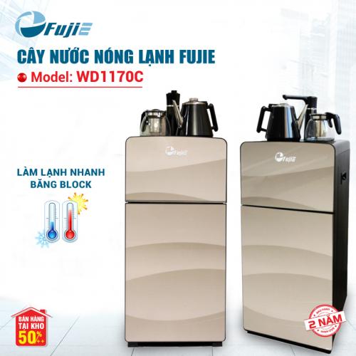 Cây nước nóng lạnh kết hợp bàn pha trà, cafe FujiE WD1170C