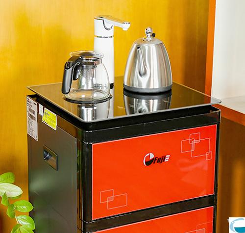 Cây nước nóng lạnh kết hợp bàn pha trà, cafe FujiE WD3000C-1