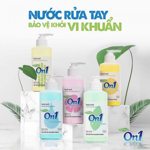 COMBO 2 chai Nước rửa tay sạch khuẩn On1 500ml hương BamBoo Charcoal - 2-RT504-3