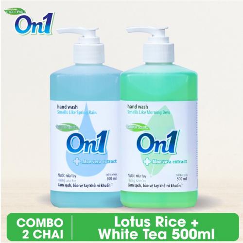 Combo 2 chai Nước rửa tay sạch khuẩn On1 500ml - RT500 + RT503