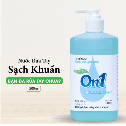 Combo 2 chai Nước rửa tay sạch khuẩn On1 500ml - RT501 + RT500-1
