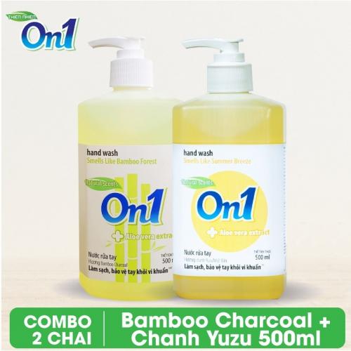 COMBO 2 chai Nước rửa tay sạch khuẩn On1 500ml - RT504 + RT502