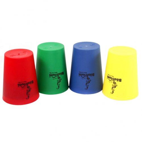 Combo Bộ ly nhựa 4 cái sắc màu-1