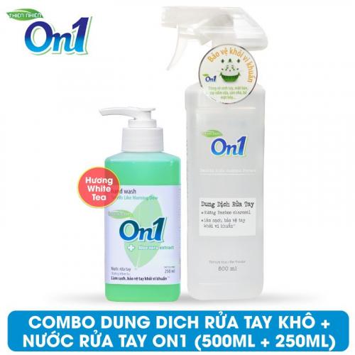 COMBO Dung dịch rửa tay khô On1 500ml + Nước rửa tay On1 250ml - Combo 34-3