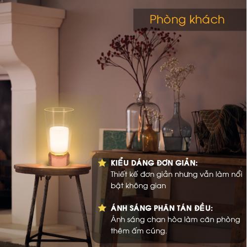 Đèn bàn trang trí Philips Jars 50040 (Hồng)-5