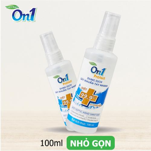 Dung dịch sát khuẩn tay nhanh On1 Protect hương BamBoo Charcoal chai xịt 100ml C0201 -2