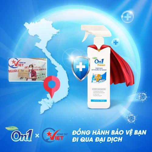 Dung dịch sát khuẩn tay nhanh On1 Protect hương BamBoo Charcoal chai xịt 500ml C0202 -1