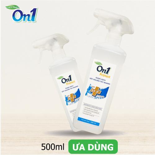 Dung dịch sát khuẩn tay nhanh On1 Protect hương BamBoo Charcoal chai xịt 500ml C0202 -2