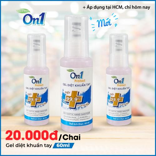 Gel Rửa Tay khô sạch khuẩn nhanh On1 Protect hương BamBoo Charcoal chai nhấn 60ml C0101