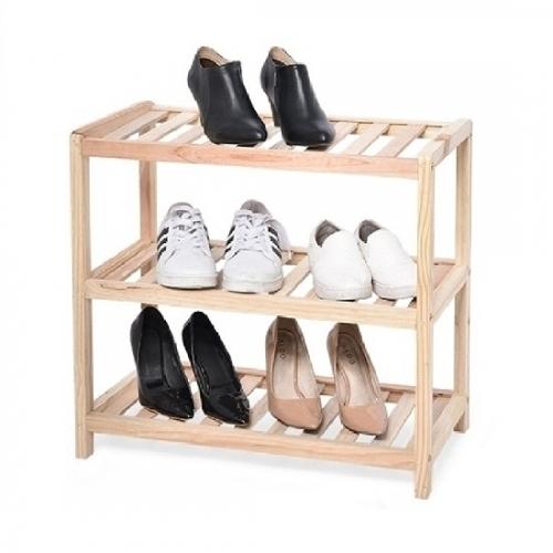 Kệ để giày khung gỗ đa năng 3 tầng Goldhouse GH11-3