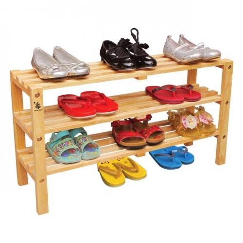 Kệ giày trẻ em 3 tầng màu tự nhiên Gỗ Đức Thành 49371K-1