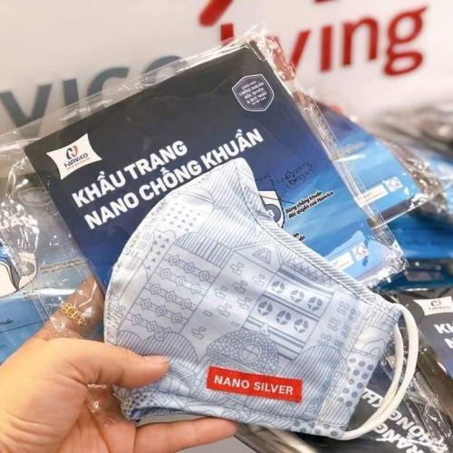 Khẩu trang kháng khuẩn NANO bạc HANVICO (Bộ 2 chiếc)-4