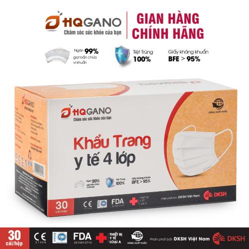 Khẩu trang y tế 4 lớp kháng khuẩn, kháng giọt bắn HQGANO