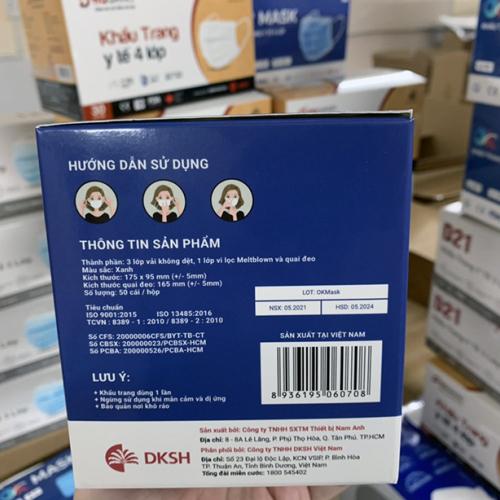 Khẩu trang y tế 4 lớp kháng khuẩn, kháng giọt bắn OK MASK Nam Anh-4